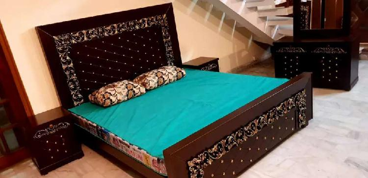 Fancy bed set, sofa set,dining table chair or pury ghar ka