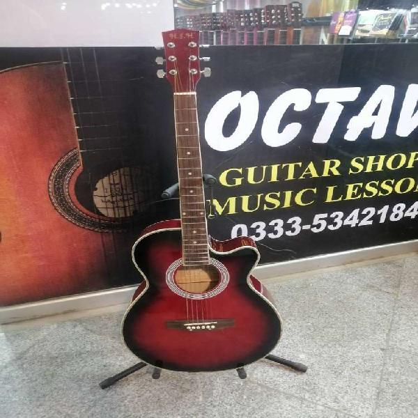 Acoustic wooden guitar 40 inch red