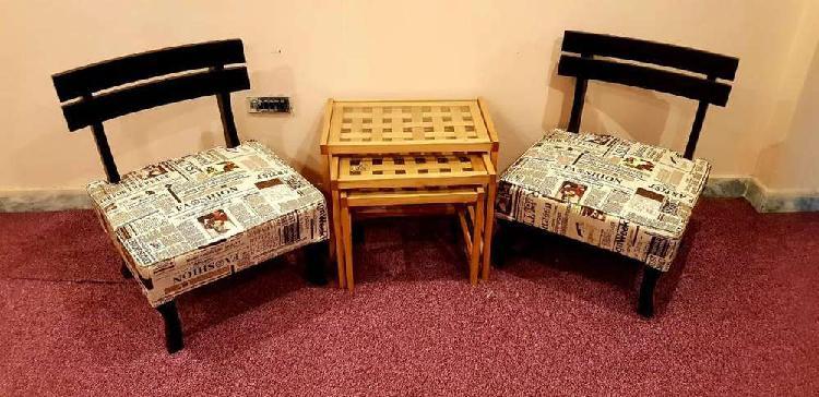 Talli bed room chairs low profile shisham brand new