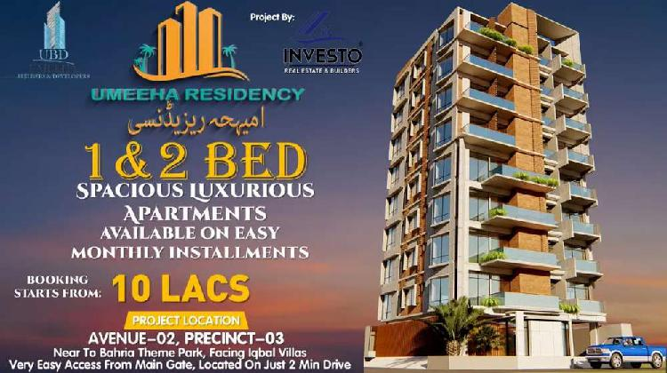 Umeeha residency 2 & 1 bed apartment/flats