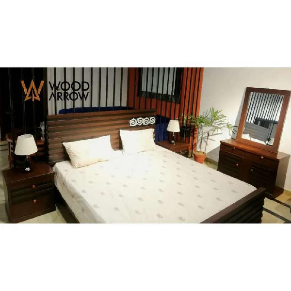 King size bed set with dressing and two side tables /sofas