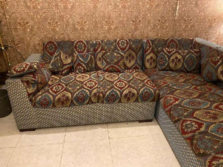 5 seater sofa l shape in good condition seen in clifton no