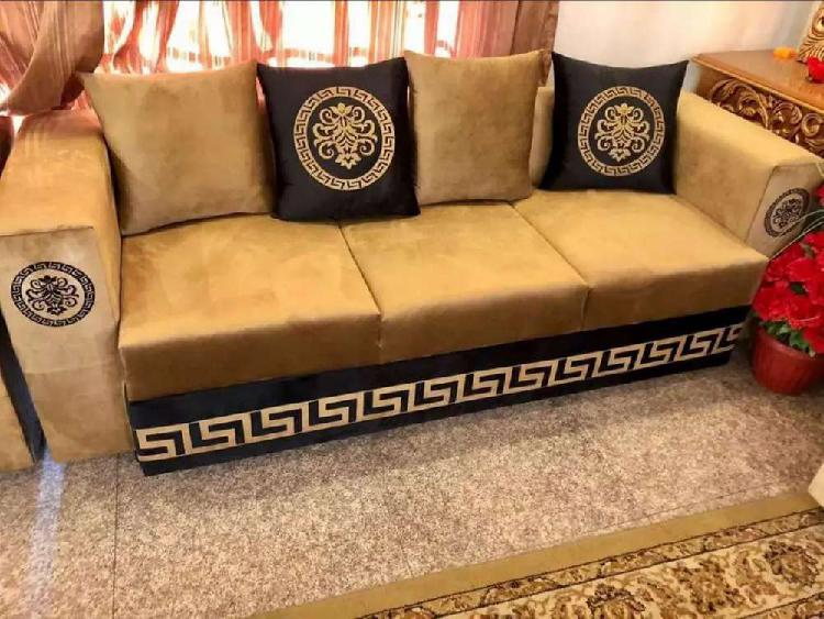 Versace design sofa bed set complete sofa table and all home