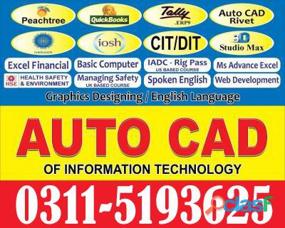 Auto cad 2d & 3d course in abbtoabad mansehra