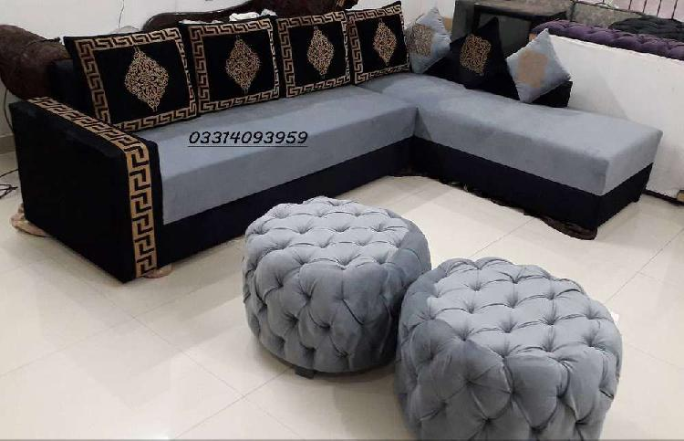 L shape sofa made in solid wood & master molty foam
