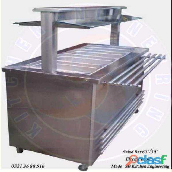 Salad bar with electric cooling 0 3 2 2 7 9 2 7 0 2 7