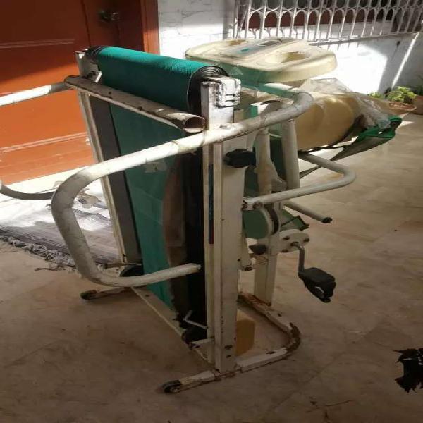 Manual treadmill machine + tummy twister + cycling +