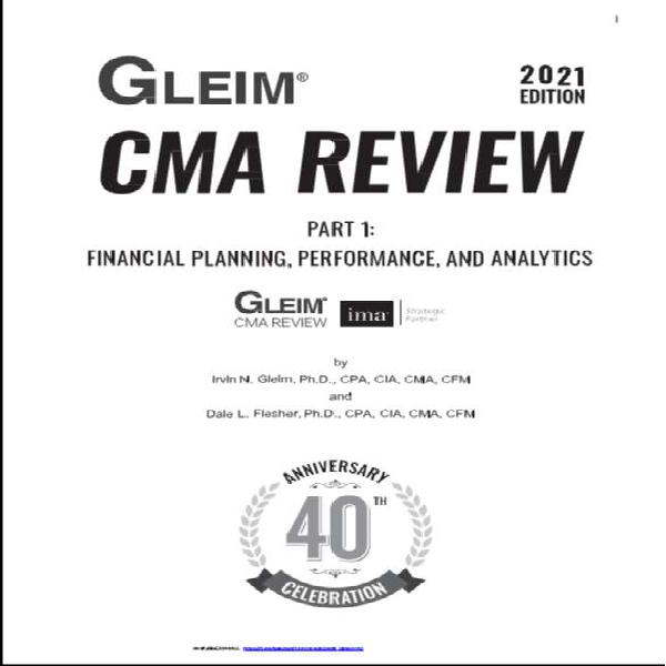 Gleim cma 2021 books,videos ,flash cards and mcqs