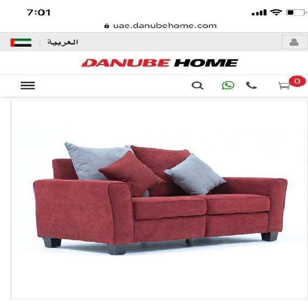 Very comfortable big 3 seater red sofa on sale!!