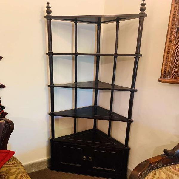 Antique solid wood corner shelf