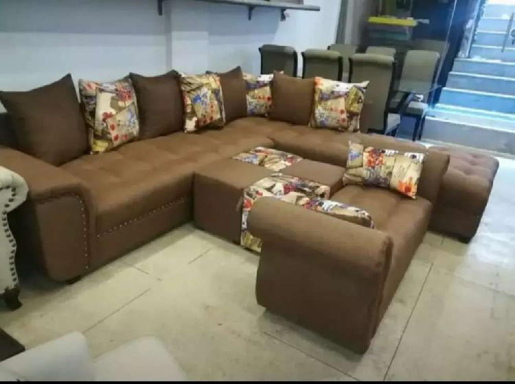 Brand new comfy style l shape sofa set
