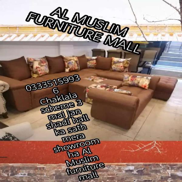 Grand offer al muslim furniture mall l shape sofa set only