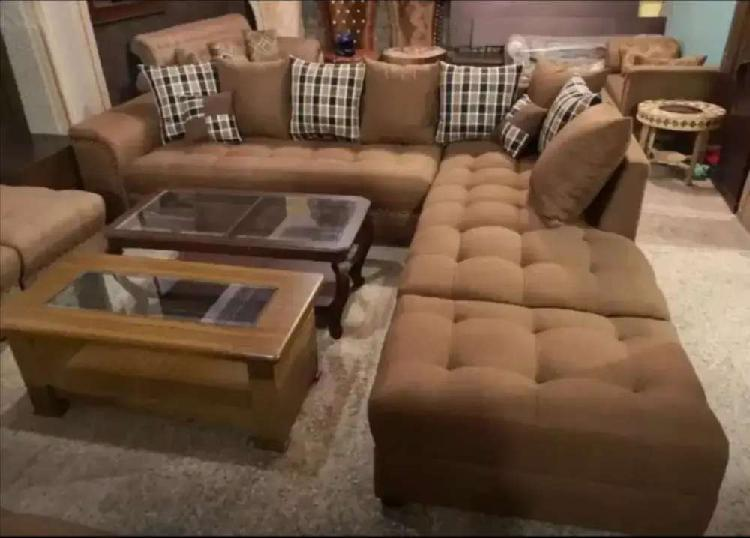 Uk design l shape sofa set only 26999