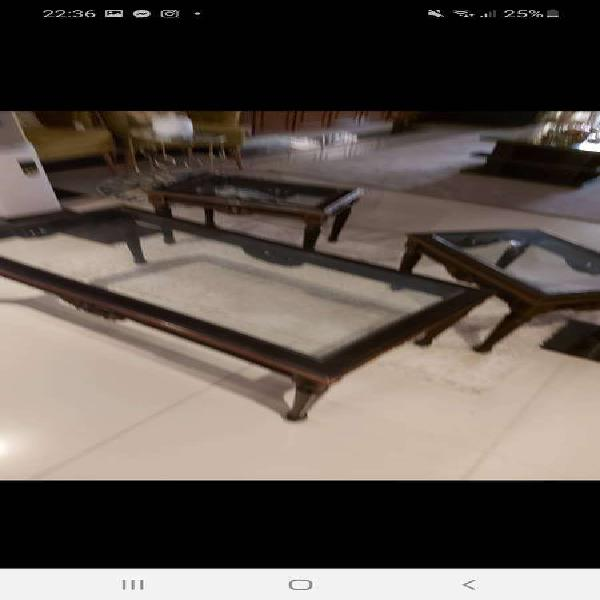 7 seater sofa set , 6 seater dinning table set and center