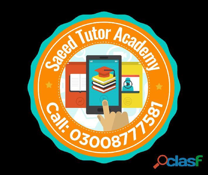 Saeed tutor academy karachi,
