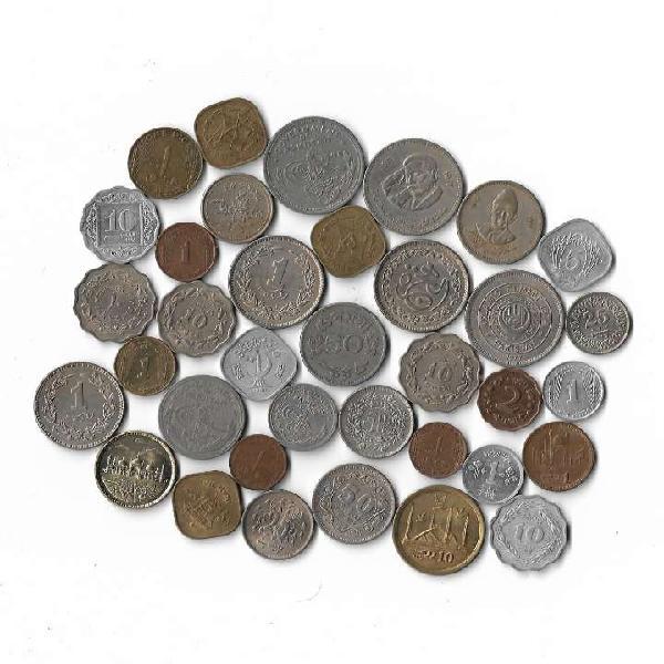 36 different pakistani coins set