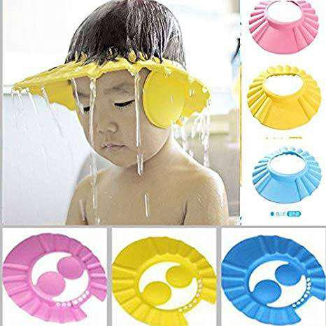 Adjustable Baby Shower Cap With Ear Protector