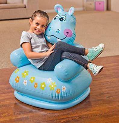 Intex happy animal kids air chair with pump