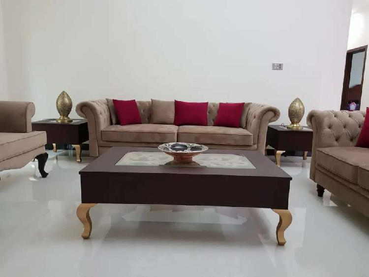 Lounge sofa set (7 seater)+centre table and 2 side tables