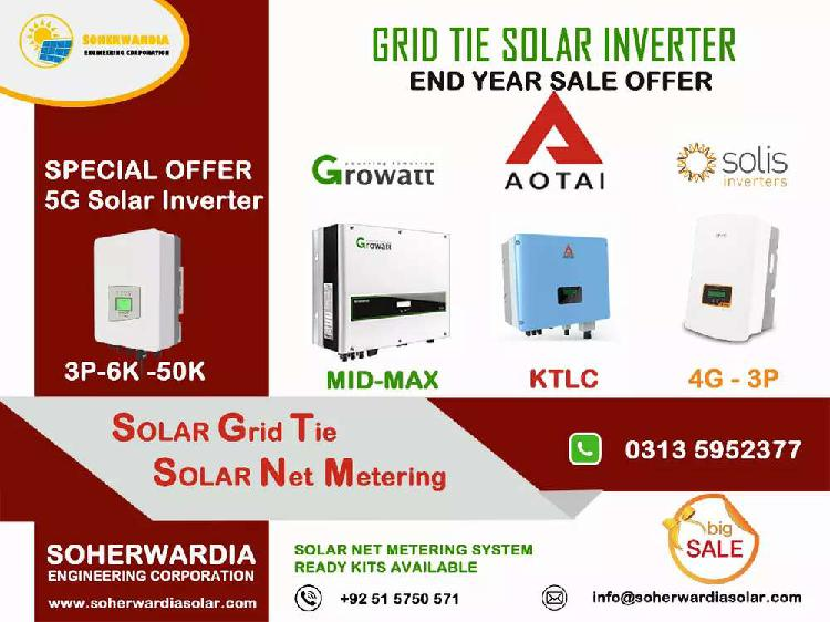 Growatt, Solis, Aotai On Grid Solar Inverter End Year Sale