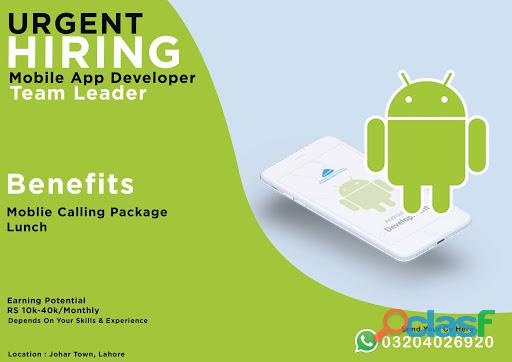 Android App Developer – Team Leader