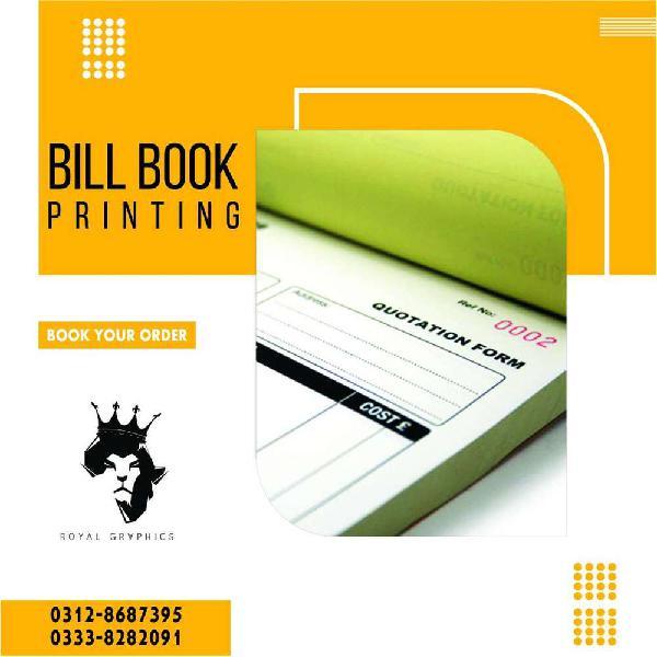 Bill Books , Invoice Book , Cash Memo Etc