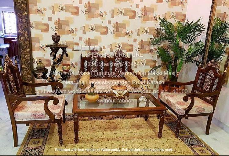 sheesham wood sofa sets