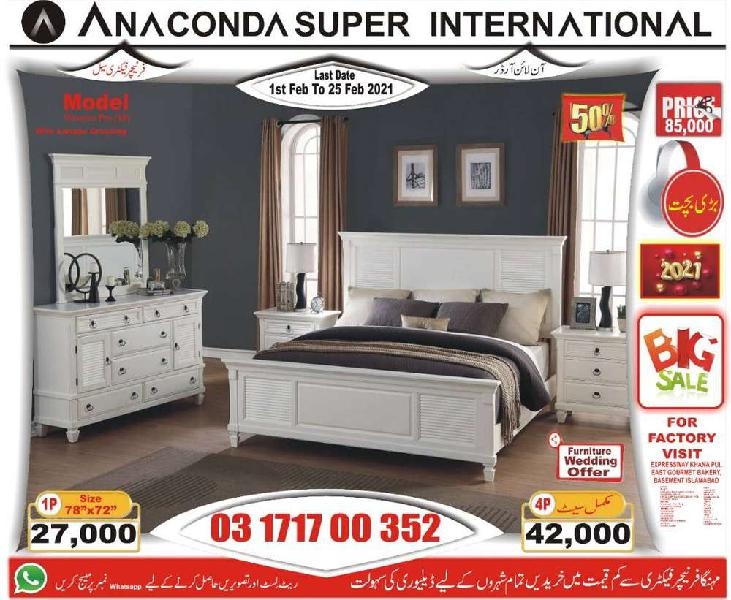 Double bed set ] single bed set and sofa set wood| furniture