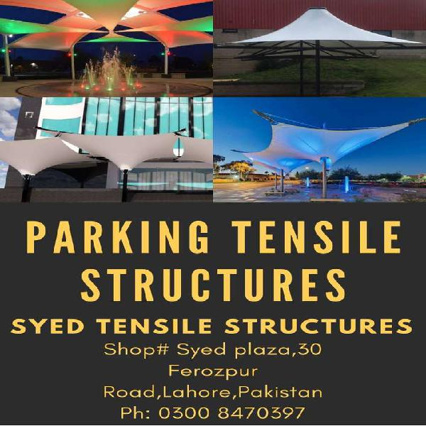 Parking Shades fixed tensile structure