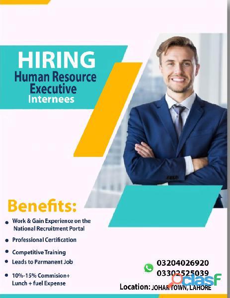 Hiring HR Executive Internee