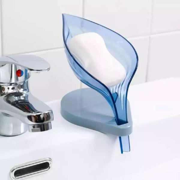 Soap holder leaf shape self decorative drainage soap holder