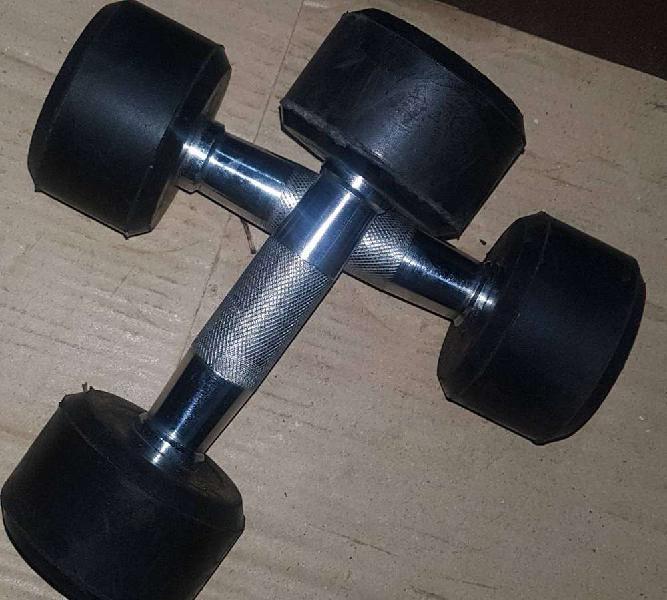 Rubber coated dumbells 2x2- 4kg