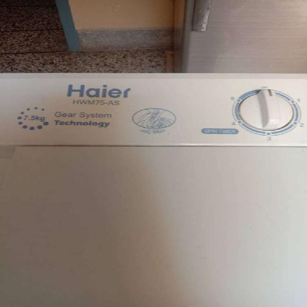 Haier semi automatic washing machine with dryer