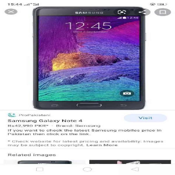 Samsung not 4 lcd original