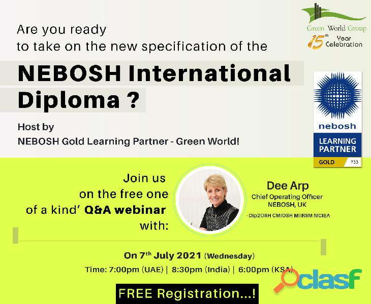 Free Webinar on NEBOSH IDip by Dee Arp