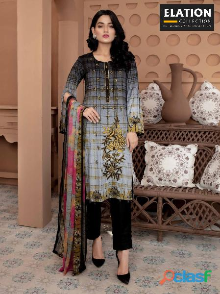 Bindawood Ariba Lawn Collection 3 Pieces Unstitched