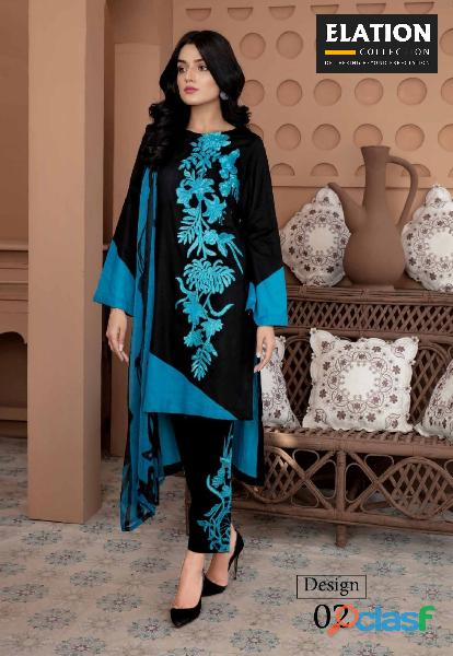 Bindawood Ariba Lawn Collection 3 Pieces Unstitched 1