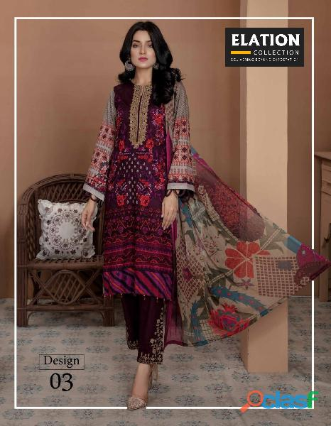 Bindawood Ariba Lawn Collection 3 Pieces Unstitched 2