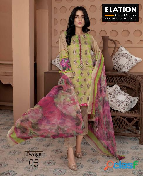 Bindawood Ariba Lawn Collection 3 Pieces Unstitched 4