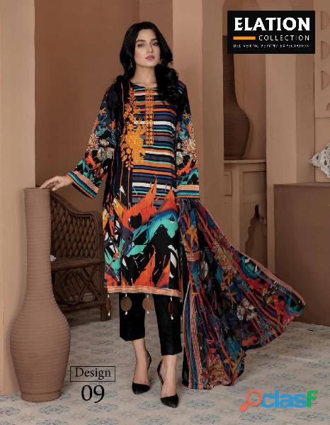 Bindawood Ariba Lawn Collection 3 Pieces Unstitched 8