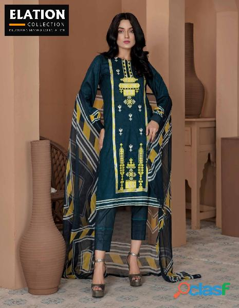 Bindawood Ariba Lawn Collection 3 Pieces Unstitched 9