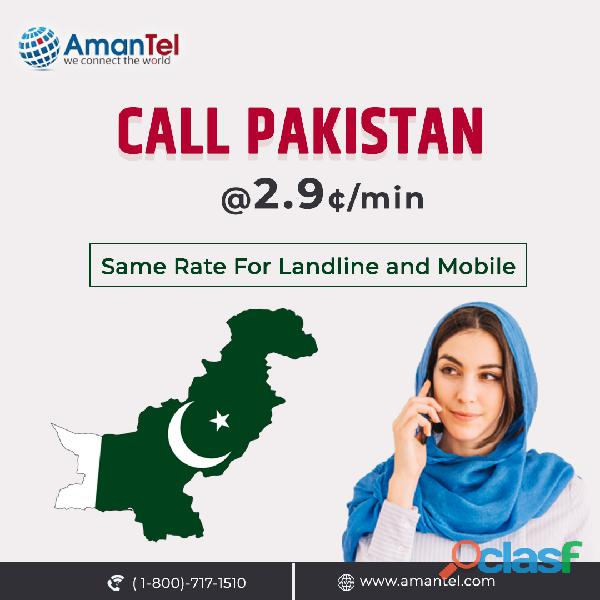 How to Call Pakistan from USA with the help Amantel