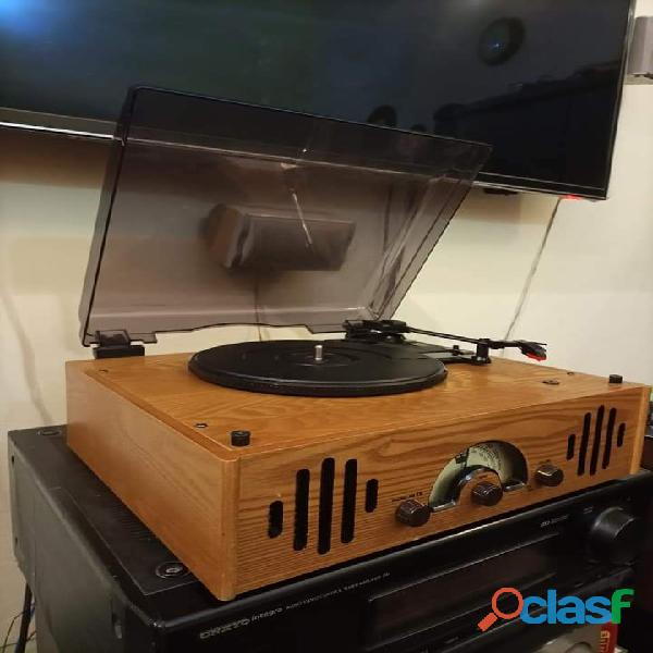Wood Turntable Gramophone Record player 1