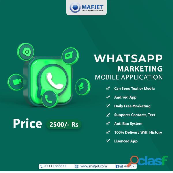 Whatsapp marketing mobile app
