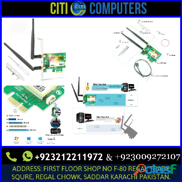 Ubit Bluetooth WiFi Card AC 1200Mbps, Wireless WiFi PCIe Network Adapter Card 5GHz/2.4GHz Dual Band
