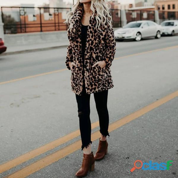 Leopard Print Women Winter Coat 1