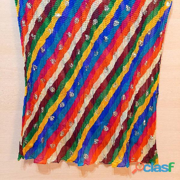 Zardi   foil print – chiffon crush dupatta – multi – zd600